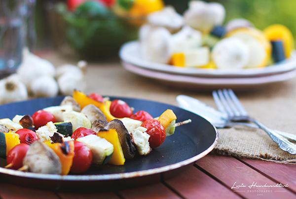 Grilovaný zeleninový špíz so syrom feta
