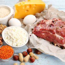 Potraviny s obsahom bielkovín
