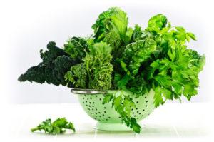 Listová zelenina obsahuje chlorofyly chrániace pečeň.