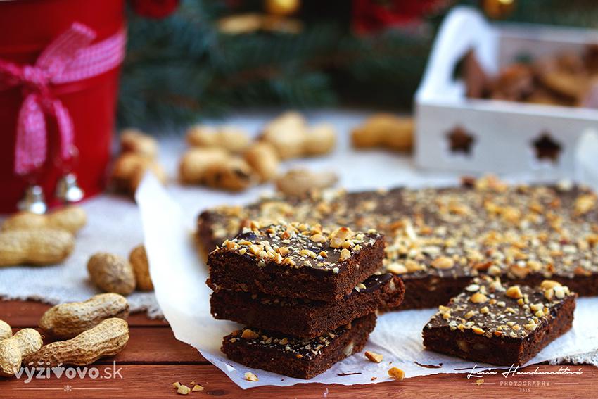 Arašidové brownies z batátov