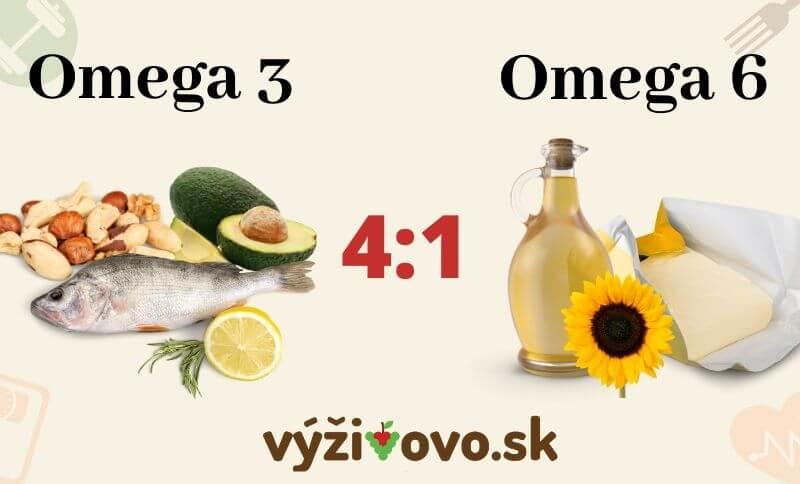 Odporúčaný pomer omega 3 a omega 6 mastných kyselín v jedálničku na chudnutie
