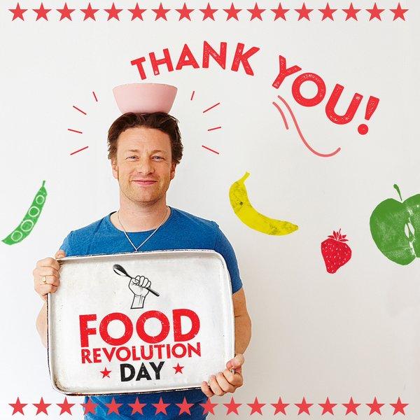 Food Revolution Day je program Jamieho Olivera s cieľom edukácie verejnosti v oblasti vyváženého stravovania
