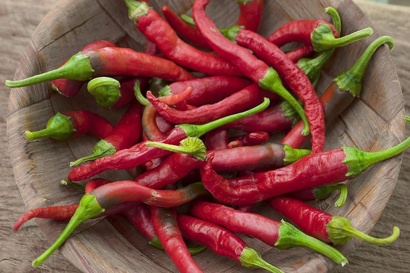 Chili obsahuje kapsaicín, silný antioxidant
