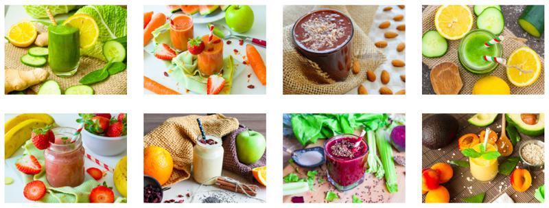 Príklady receptov Smoothie kniha