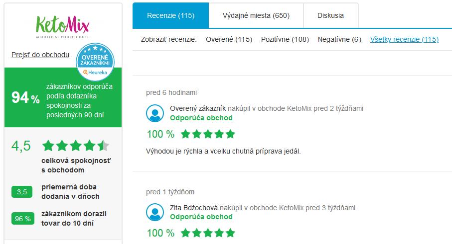 Recenzie na heureka.sk