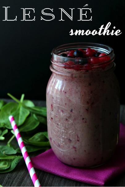 Recept na smoothie z lesného ovocia