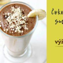recept na čokoládové smoothie s banánom, avokádom a vločkami