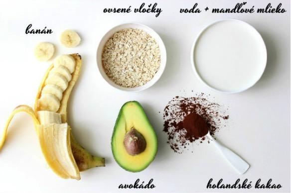 recept na raňajkové čokoládové smoothie