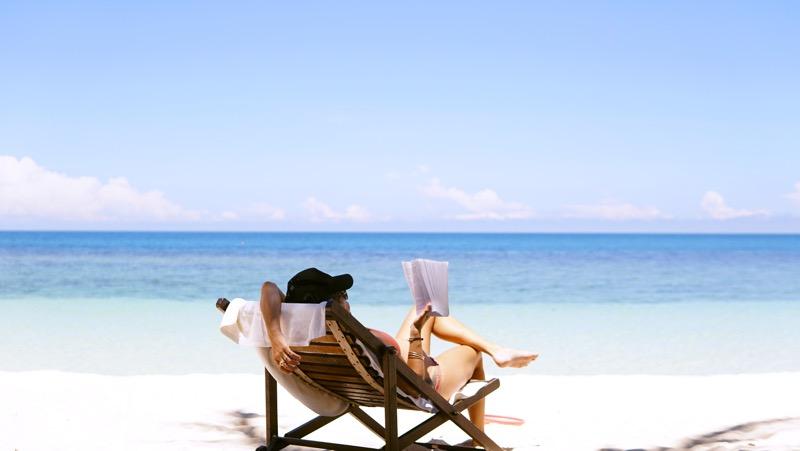 oddych na pláži
