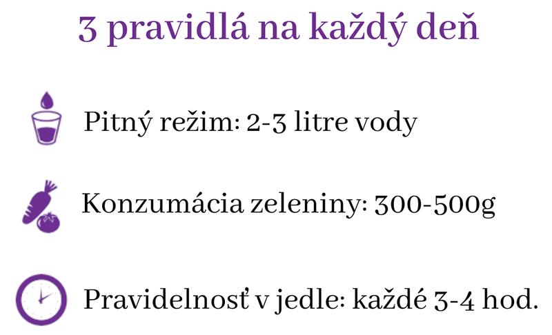 Základné pravidlá pri Prodietix diéte