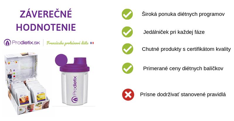 Záverečné hodnotenie diéty Prodietix