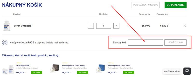 Online nákupný košík