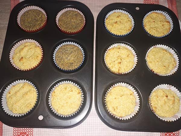 Kokosové a makové muffiny