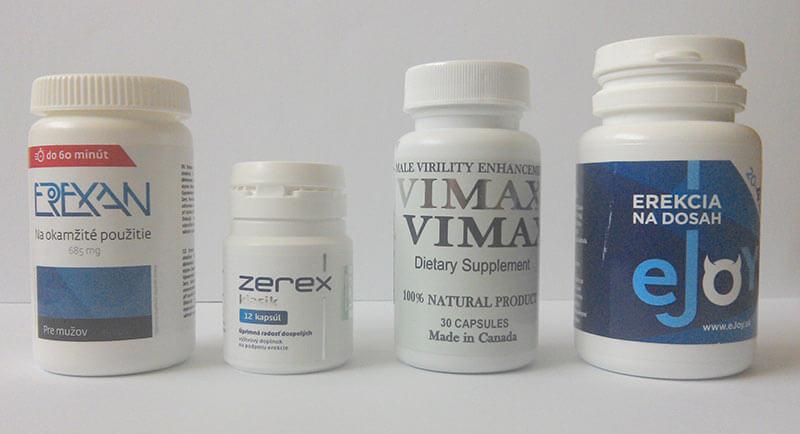 Alternatívne tabletky na erekciu