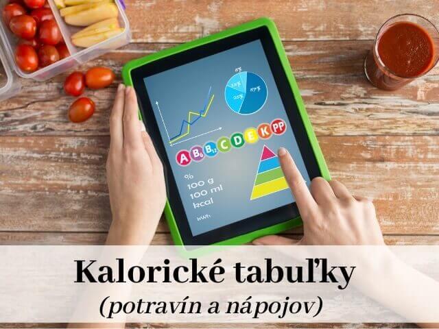 kalorické tabuľky na počítanie kalórií