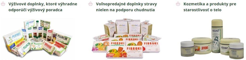 Ponuka produktov zahŕňa nielen výživové doplnky, ale i kozmetiku