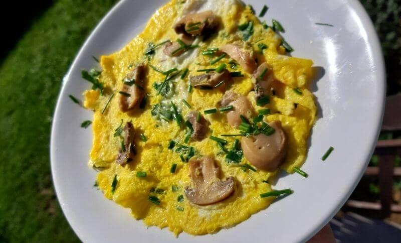 Low carb recepty - šampiňónová omeleta
