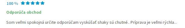 Odporúčanie Chia Shake na heureke