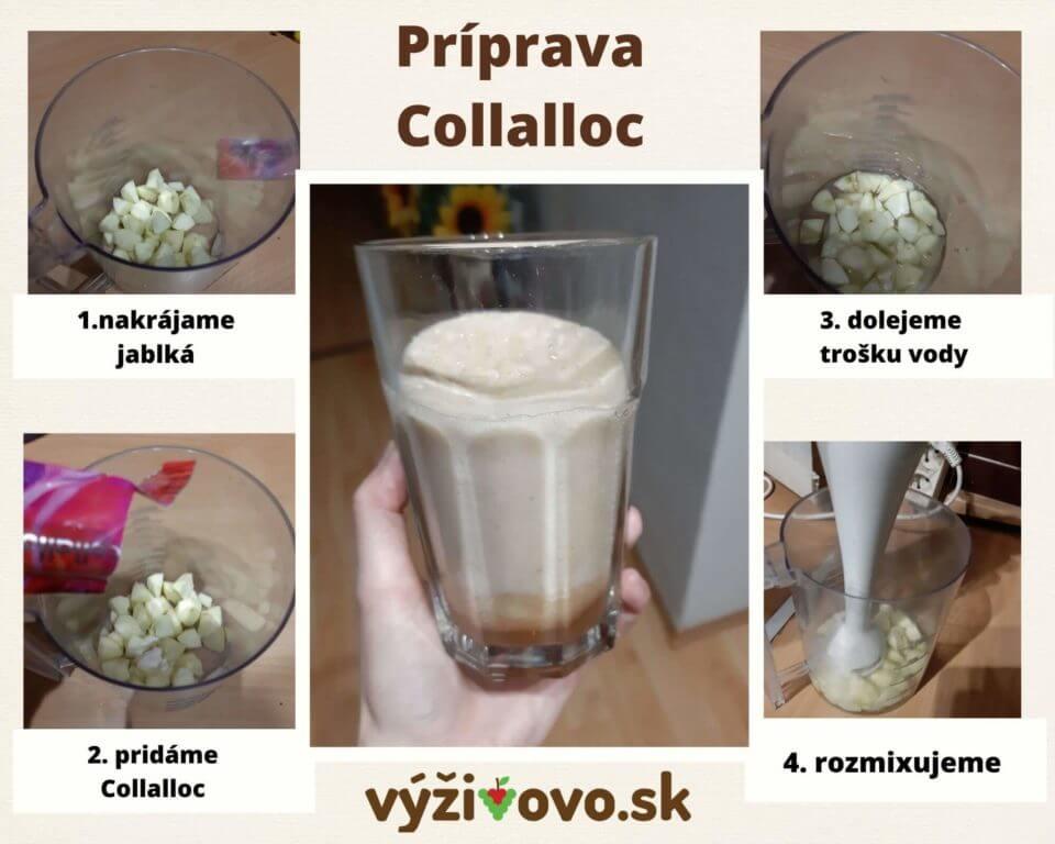 Príprava jablkového Smoothie s práškom Collalloc