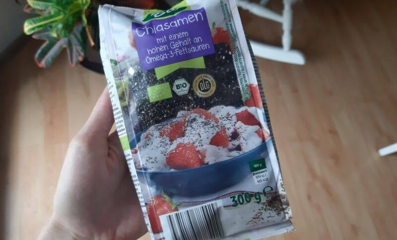Balenie chia semienok zo supermarketu