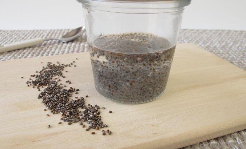 Chia gél sa môže použiť na zahustenie omáčky či namiesto vajíčka