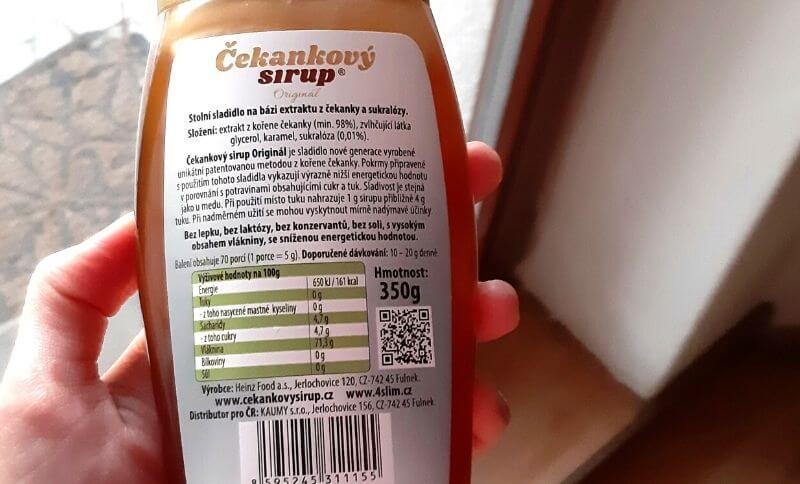 Čakankový sirup neobsahuje žiadne umelé prísady a chemické látky