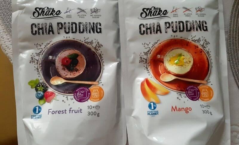 Predpripravený Chia Shake puding je dostupný v troch rôznych príchutiach.