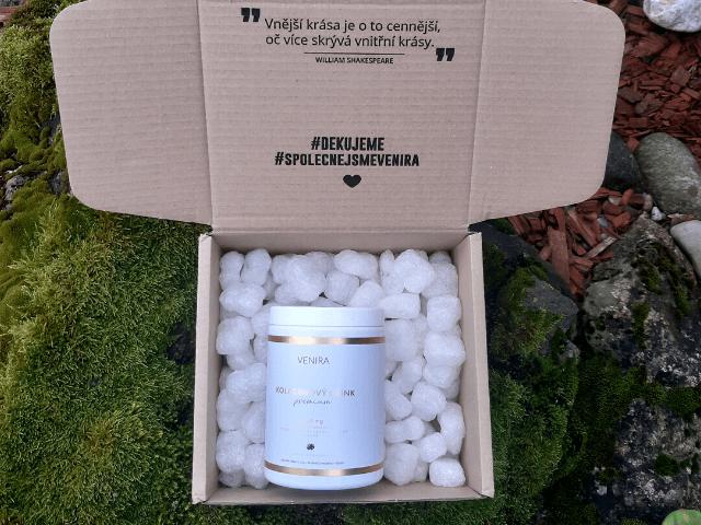 Kolagénový drink Premium je dodávaný vo veľmi peknom balení.