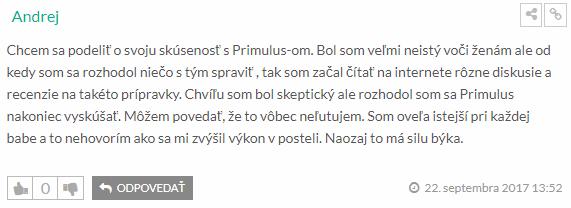 Pozitívna recenzia na Primulus
