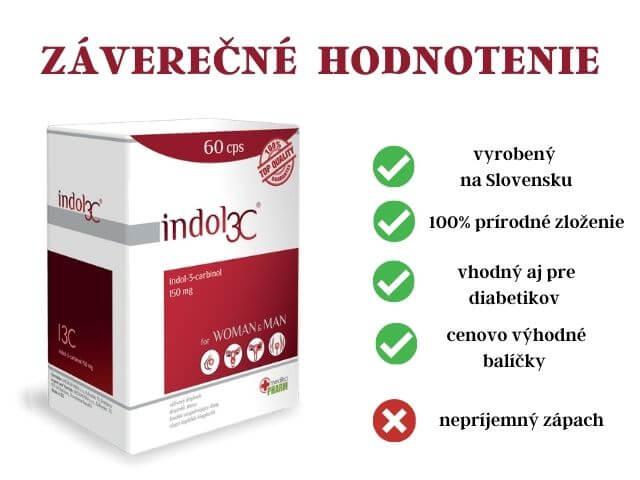 Záverečné zhodnotenie Indol3C spolu s výhodami a nevýhodami