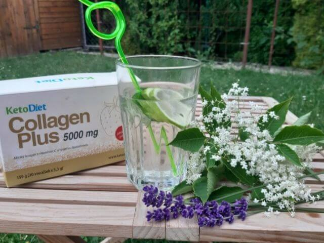 Levanduľovo-bazová limonáda doplnená o KetoDiet Collagen Plus