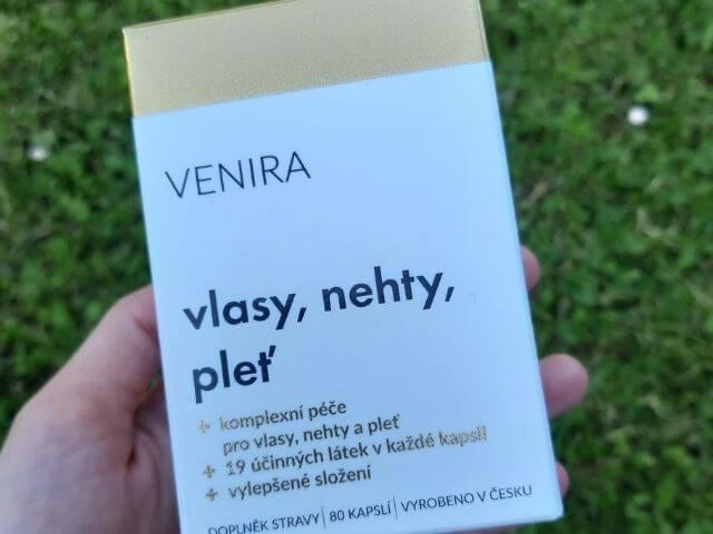 Krabička kapsúl Venira pre vlasy, nechty a pleť