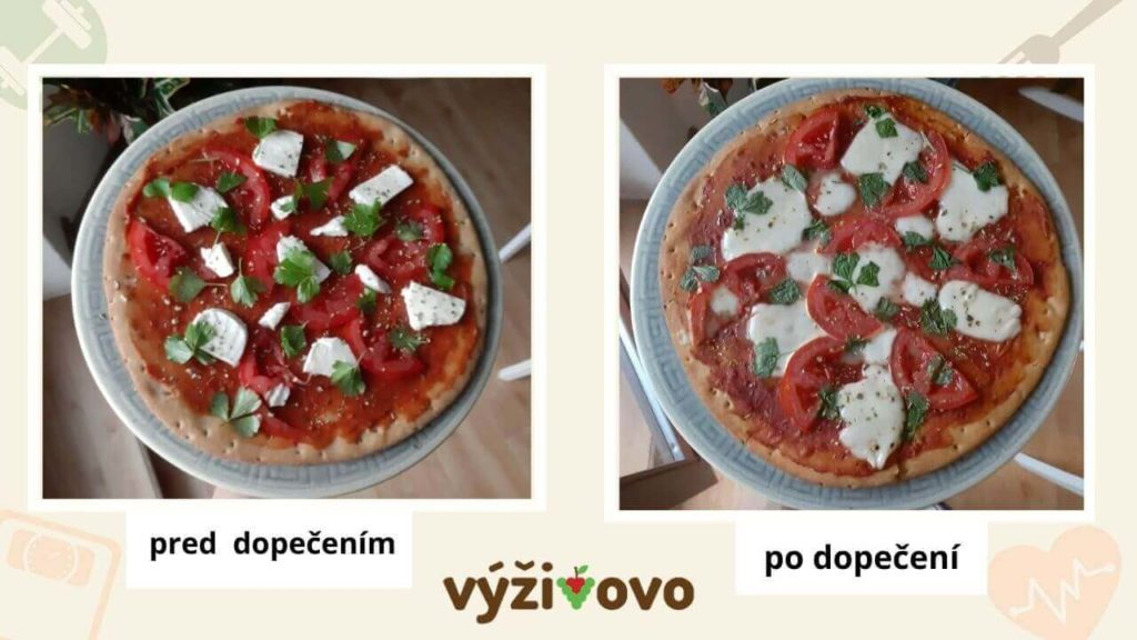 Low carb pizza z hotového korpusu KetoFit s mozzarellou, paradajkami a žeruchou je hotová do 10 minút