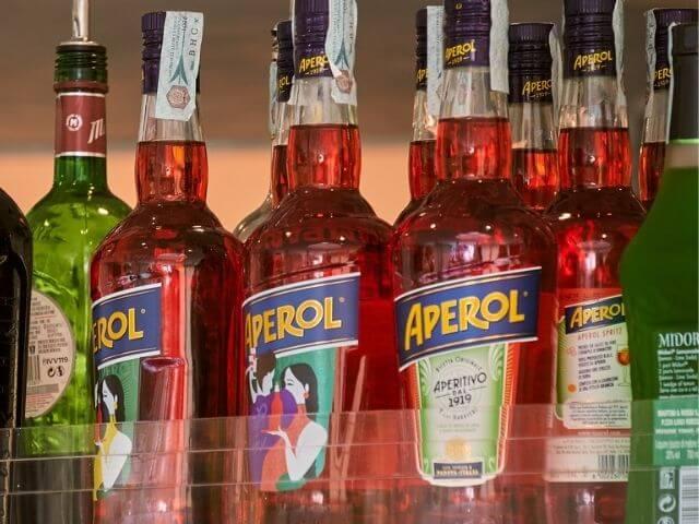 fľaše Aperolu